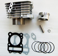 flat shape Motorcycle Barrel Cylinder Piston Kit Upgrate to 150cc 62mm for SUZUKI GS125 GN125 EN125 GZ125 DR125 TU125 157FMI