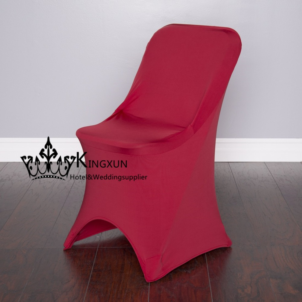 Burgundy Chair Covers Wedding Futon Bed ツ Color Cover For Folding Cheap Spandex
