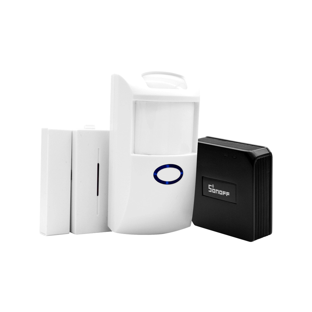 Sonoff Wireless Automation Home Security Alarm System 2.4G WiFi RF Bridge Switch+PIR2 PIR Sensor+ DW1 Door Window Alarm Sensor