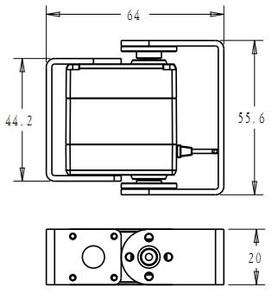 Image 4 - 1X Robot servo 20kg RDS3218 metal gear digital servo arduino servo with Long and Short Straight U Mouting