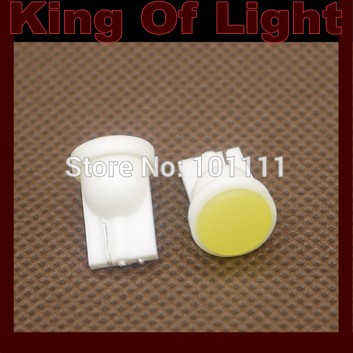 100x T10 1.5W Ceramic 194 168 1 SMD high power Ceramic LED Car Led Light Bulbs Free shipping