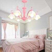 Американская Керамическая люстра зеленый розовый металлический подвесной светильник для сада, домашнего освещения, гостиной, лампы для ку