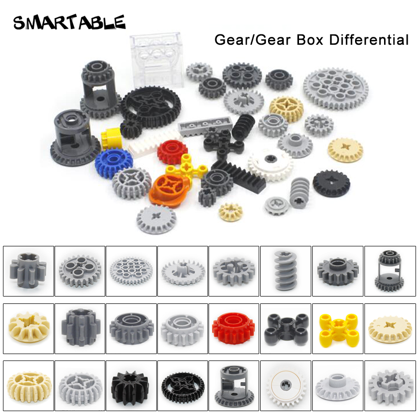 Smartable Technic Gear Parts Building Block Toys Set MOC Model For Kids Compatible All Brands 32498/62821/76244/87407/94925