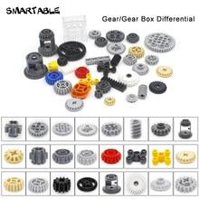 Peças de engrenagem técnica smartable bloco de construção brinquedos conjunto moc modelo para crianças compatíveis todas as marcas 32498/62821/76244/87407/94925