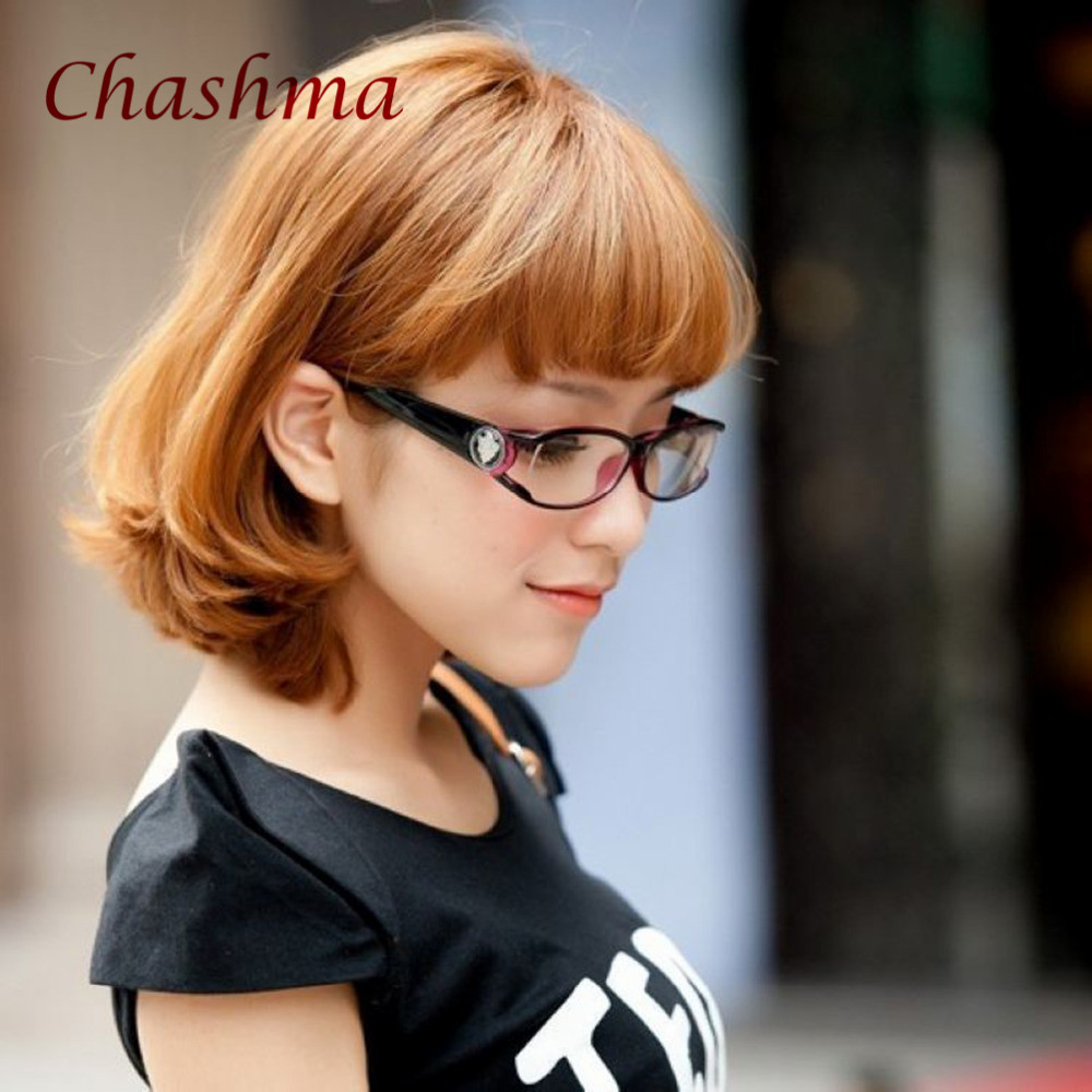 Chashma Brand Fashionable Anti Radiation Eye Glasses Purple Color Women and Men Computer Glasses in Women 39 s Eyewear Frames from Apparel Accessories
