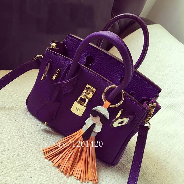 karl face tassel accessories  monster  Mujer   bag bug charm  key chain chains For Car Ornaments Genuine leather