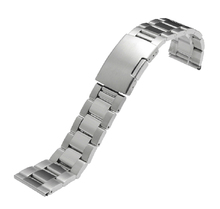 Watchbands 24mm 28mm 30mm Band Width High Quality Stainless Steel Silver Black Wrist Watch Band Strap Bracelet Mens accessories