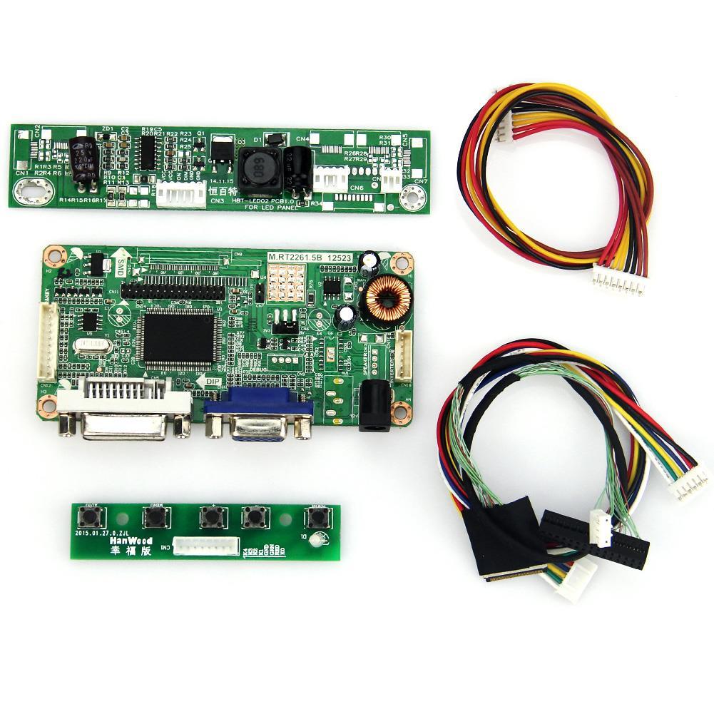 M.RT2261 M.RT2281 LCD/LED Controller Driver Board(VGA+DVI) For LP133WX3-TLA6 LTN133AT09 LVDS Monitor Reuse Laptop 1280x800