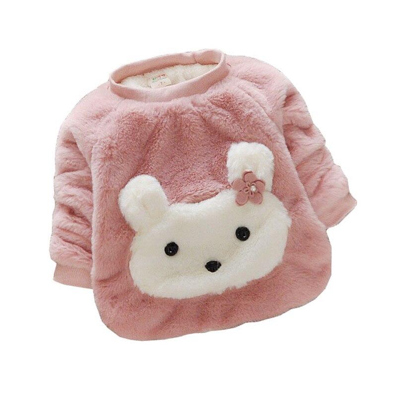 BibiCola Baby Girl Sweater Zimní děti Bebe Cartoon Svetry Děti Dívky s dlouhým rukávem Příležitostné Thicken Warm Shirt Sweaters