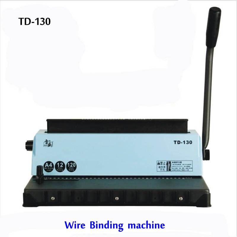 A4 Проволока вязальная машина TD-130 Малый машина большая емкость книги машинной вязки