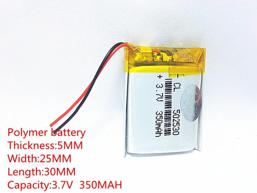 (Livraison gratuite) 3.7 V 502530 350 mah au lithium-ion polymère batterie qualité marchandises qualité de CE FCC ROHS certification autorité