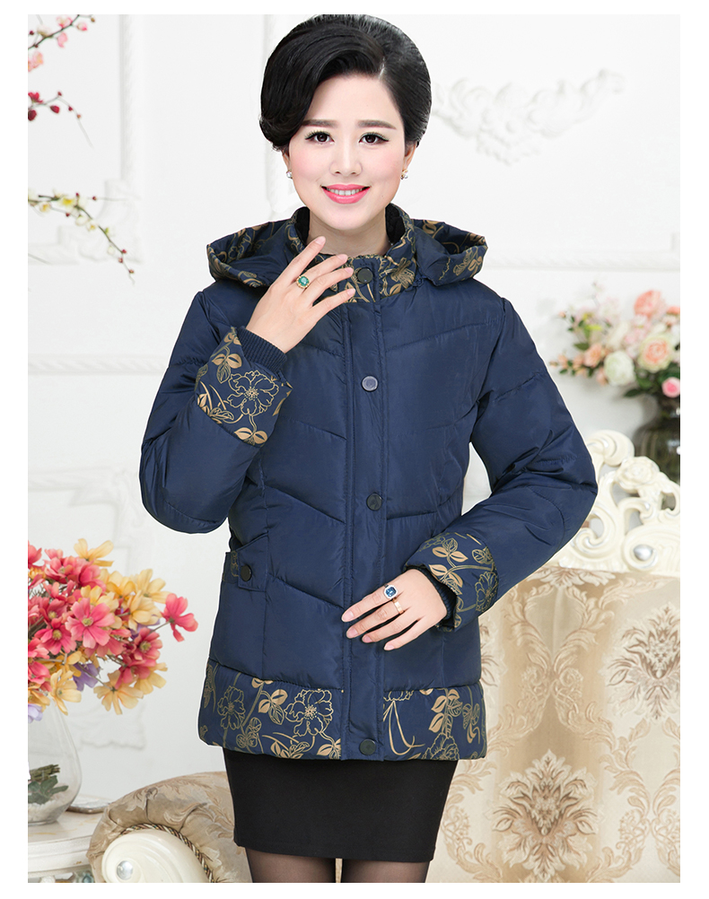 Winter New Middle-aged Women's Winter Coat Short Section Thick Mother's Cotton Jacket Jacket In The Elderly Jacket 2017 60 year old 70 grandmother jacket in the elderly mothers installed women s winter 80 elderly lady down jacket