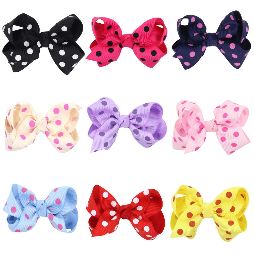 baby girl headband Infant hair accessories cloth band bows Dot newborn tiara headwrap Gift Toddlers clips hairpins Headwear