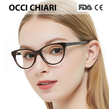 Free Shipping Fashion Acetate HandMade Prescription Lens Medical Optical Glasses Frame For  Women AGLI