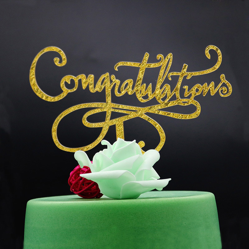 1pcs 2019 Graduation Cake Topper Acrylic Cake Picks Cake Toppers Party Decor