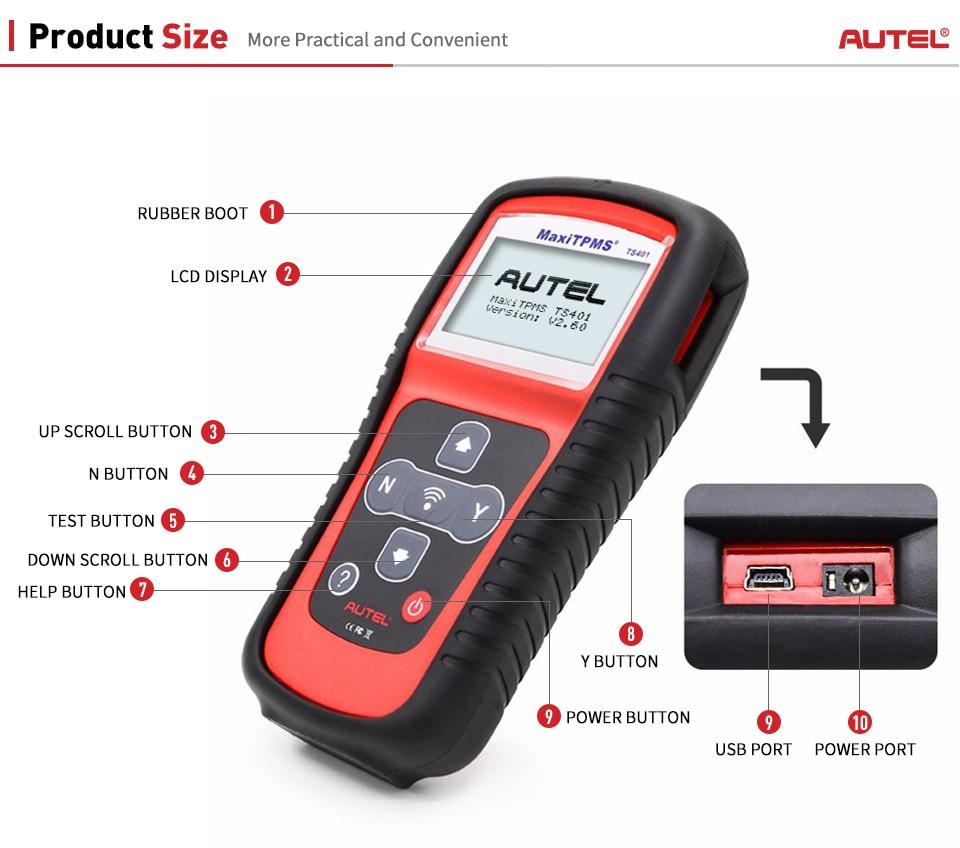Image 4 - Autel TS401 TPMS Sensor Read Tire Pressure Diagnostic Activate Decode Tool Car Tools MaxiTPMS TS401 Sensor Diagnostics Tools-in Code Readers & Scan Tools from Automobiles & Motorcycles