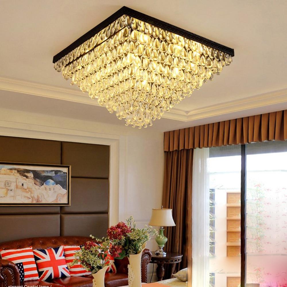 led e14 European Iron Crystal Tear Drops LED Lamp.LED Light.Ceiling Lights.LED Ceiling Light.Ceiling Lamp For Foyer Bedroom
