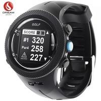 DREAM SPORT часы для гольфа с GPS с полем для гольфа, часы для отслеживания гольфа с ярдажем Расстояние/опасность/дальномер/счет карта DGF3 черный
