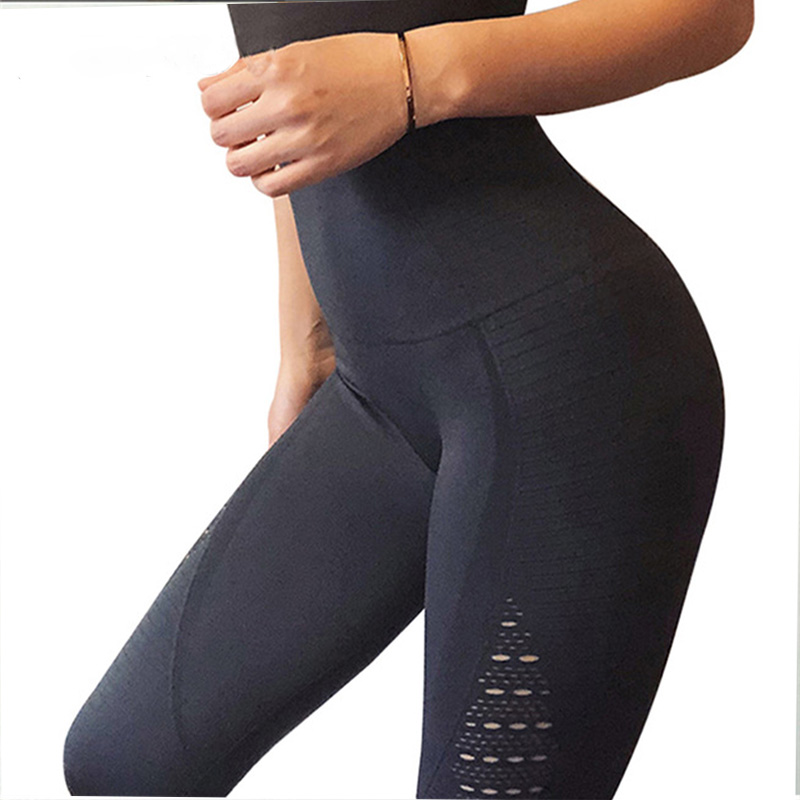 2019 Mode Normov Mesh Patchwork Leggings Für Frauen Hohe Taille Elastische Nahtlose Legins Push-up Fitness Leggins Workout Leggings Weibliche Moderne Techniken