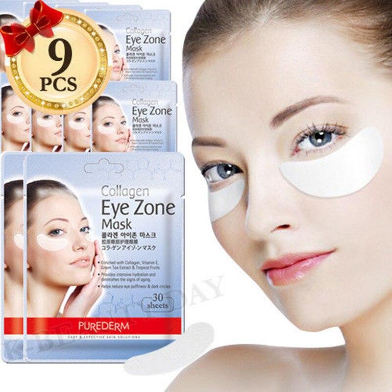 Korea Cosmetic PUREDERM Collagen Eye Zone Mask 30 Sheets * 9pcs Eye Mask Sleep Mask Eye Patches Dark Circles Face Care Mask