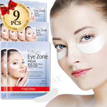 Korea Cosmetic PUREDERM Collagen Eye Zone Mask 30 Sheets * 9pcs Eye Mask Sleep Mask Eye Patches Dark