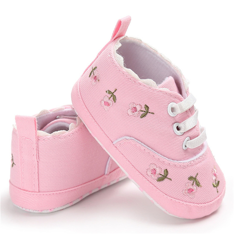 Toddler Children Floral Girls Kids Sneakers Soft Crib Sole Casual Sandals Shoes