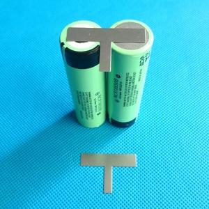 Image 2 - 18650 배터리 2P 순수 니켈 스트립 T 형 니켈 테이프 18650 셀 2P 또는 2S 배터리 팩 리튬 이온 batery 순수 니켈 플레이트