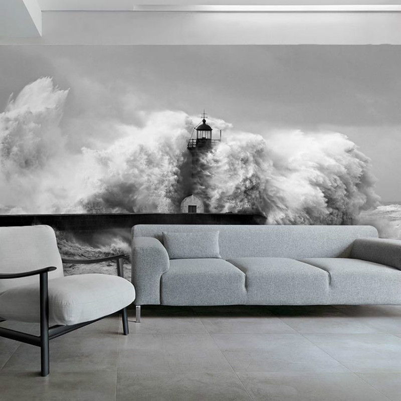 3D stereoscopic beach spray large mural wallpaper bedroom living room TV backdrop painting photo wallpapers for wall купить