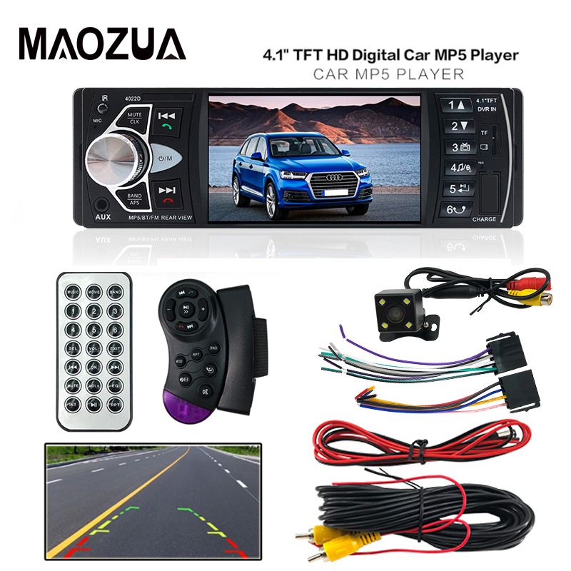 4022D Auto Car Radio Music Player with Rear View Camera FM Transmitter Support Bluetooth MP5/MP4/MP3 Car Video + Remote Control new 7 inch 2din bluetooth car radio video mp5 player auto radio fm 18 channel hd 1080p in dash remote control rear view camera