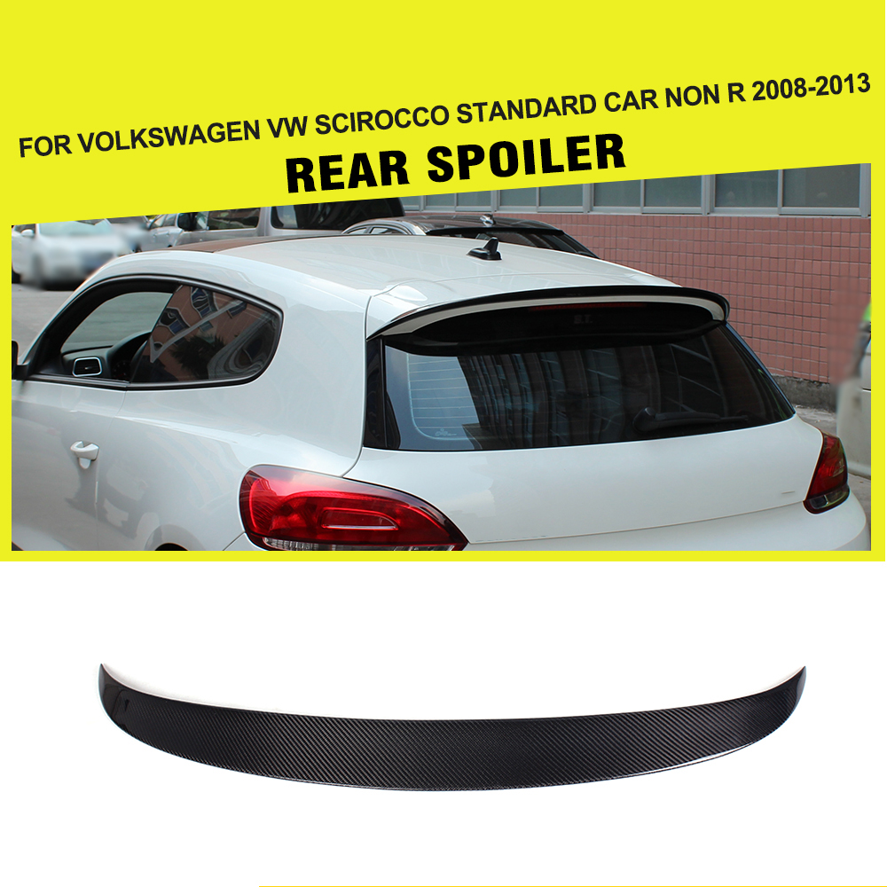 Car-Styling Carbon Fiber / FRP Car Racing Rear Roof Boot Lip Spoiler Wing for Volkswagen VW Scirocco 2008 - 2013 car styling carbon fiber auto rear wing spoiler lip for vw scirocco 2010 2012