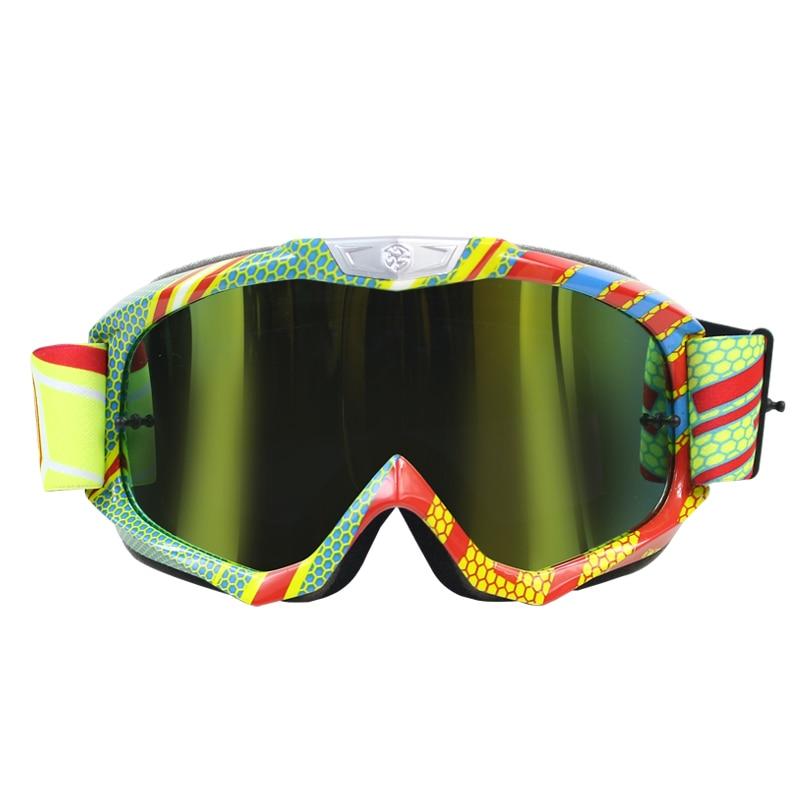 Lunettes de Motocross Scoyco lunettes tout-terrain moto MX sangles en silicone réglables lunettes de course de vélo de saleté G07