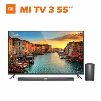 "Original xiaomi Smart Mi TV 3 55"" Real 4K 3840*2160 Ultra HD Quad Core Ultra thin Split Type Subwoofer"