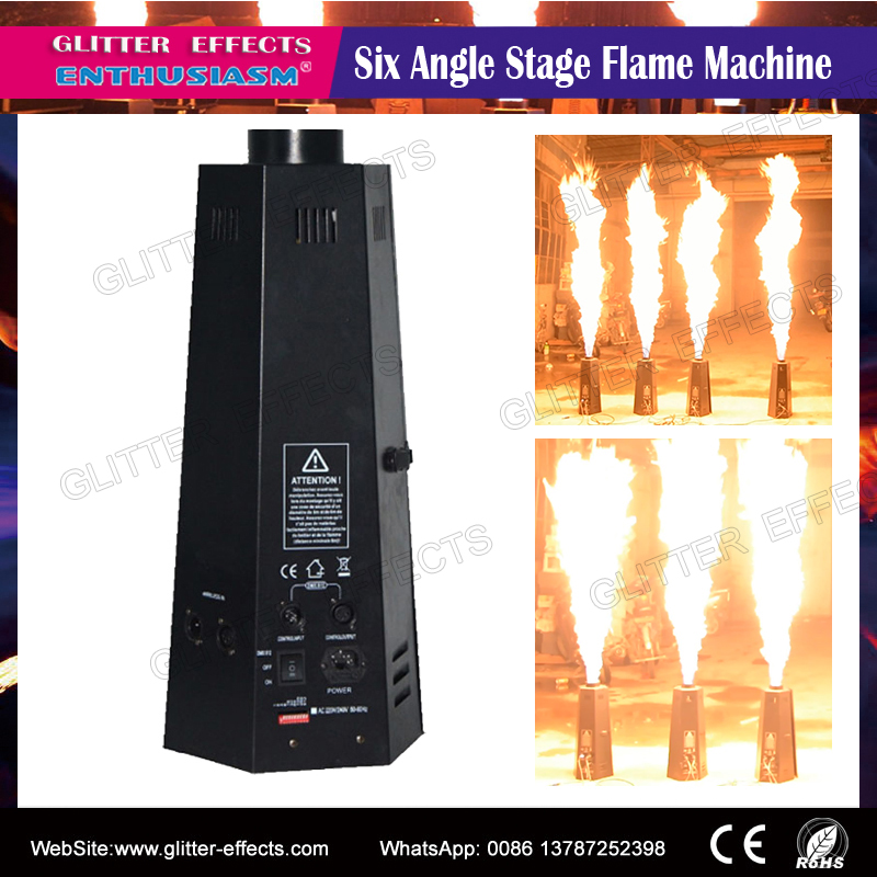 DMX 512 DJ Disco Stage Fire Machine Fireworks Flame Projector For Dj Club Performance