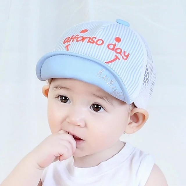 20010cc9d8c572 Newborn Baby Dot Caps Girls Boys Cap With Bell Summer Hats For Boy Infant Sun  Hat Sunscreen Hat Spring Baby Accessories 5Styles