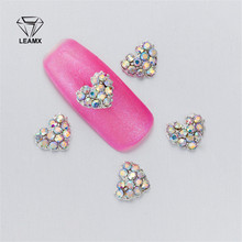 10 PCS bag Nail Art Decorations 3D Type Alloy Rhinestone Love Flower Nail  Glamour Sparkling 18af82f202dc