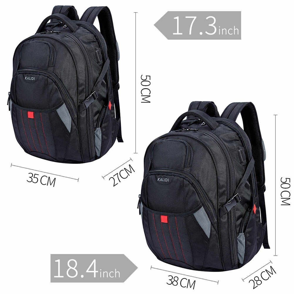Kalidi wodoodporny plecak mężczyźni usb do ładowania większe torby szkolne plecak plecak na laptopa plecak 17,3 cal dla obcy plecak mężczyzna