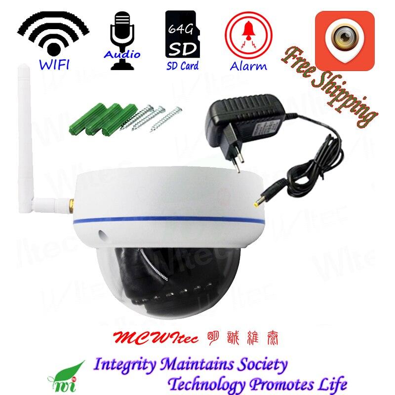 XMCSee WIFI 1080 p IR Dôme Anti-Vandalisme CCTV Cam RTSP Onvif Carte SD IP Caméra Motion D'alarme P2P Mobile vue Audio Reset CIB