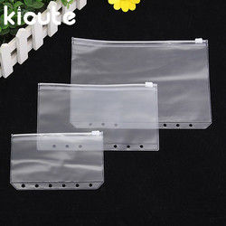 Kicute pvc transparent file a5 a6 a7 small things keeper for 6 holes loose leaf spiral.jpg 250x250