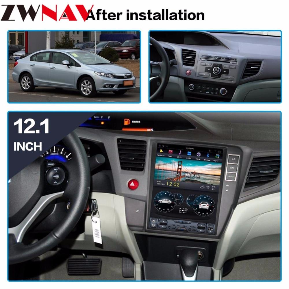 Tesla style BIG Screen Android 7 1 Car gps navigation Head unit For Honda civic 2012