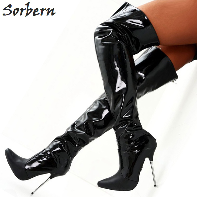 girl-sexy-black-leather-high-heel-shoes-naked-jamaican-amateur