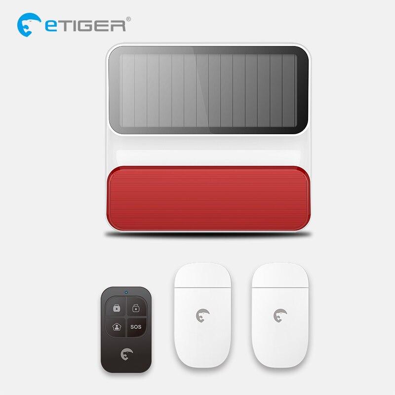 Wireless Outdoor Solar Powered Strobe Siren Home Security Alarm Works With Door Sensor Motion detector