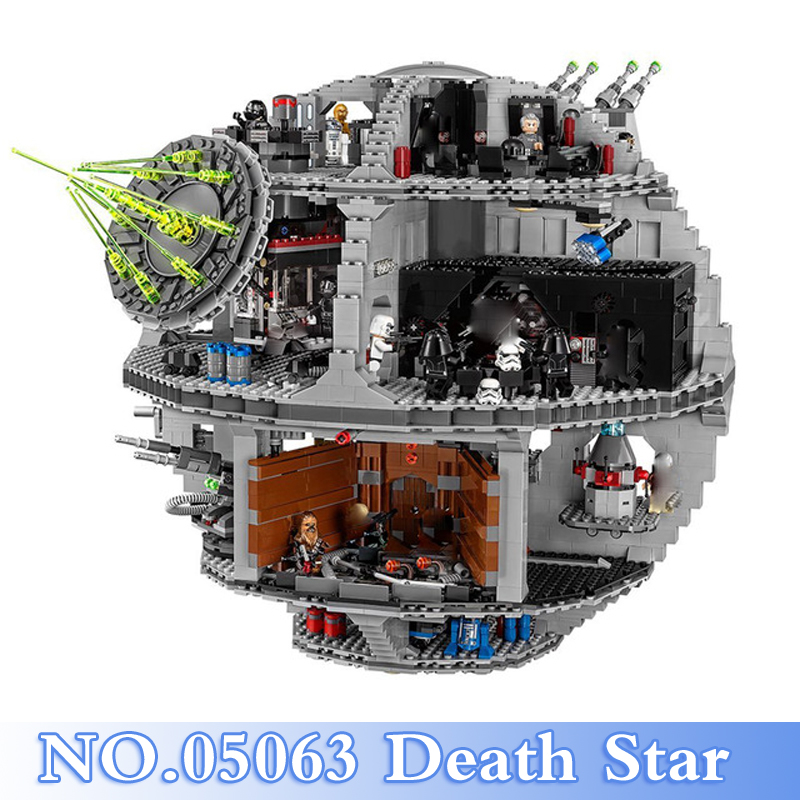 2018 New Lepin 05063 Star War 4016Pcs Death Star Figures Building Blocks Bricks Set Toy For Children Model Kits Compatible 75159 new lepin 16009 1151pcs queen anne s revenge pirates of the caribbean building blocks set compatible legoed with 4195 children