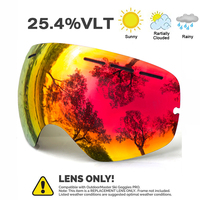 JULI Brand Professional Sunglasses Lens Double Lens UV400 Anti Fog Adult Goggles Women Men Snow Eyewear