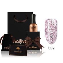 Gelike 15ml Glitter Gel Polish 12 Colors Varnishes Shining Nail Platinum Kit
