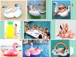 11 estilo inflável piscina flutuador gigante cisne flamingo flutua abacaxi unicórnio anel de natação colchão de ar água brinquedo boia piscina