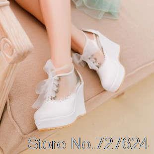ФОТО Sandals Shoes Woman PU New 2016 high heel 9CM Platform 3CM Wedges Female summer EUR Size 34-43
