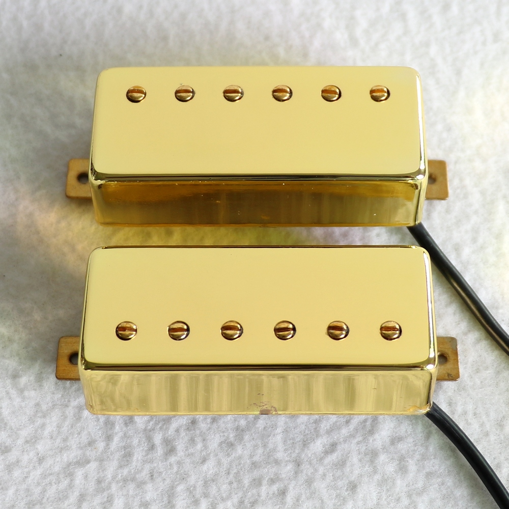 Free Shipping N and B 1set Alnico 5 magent Gold color Open style Mini humbucker guitar