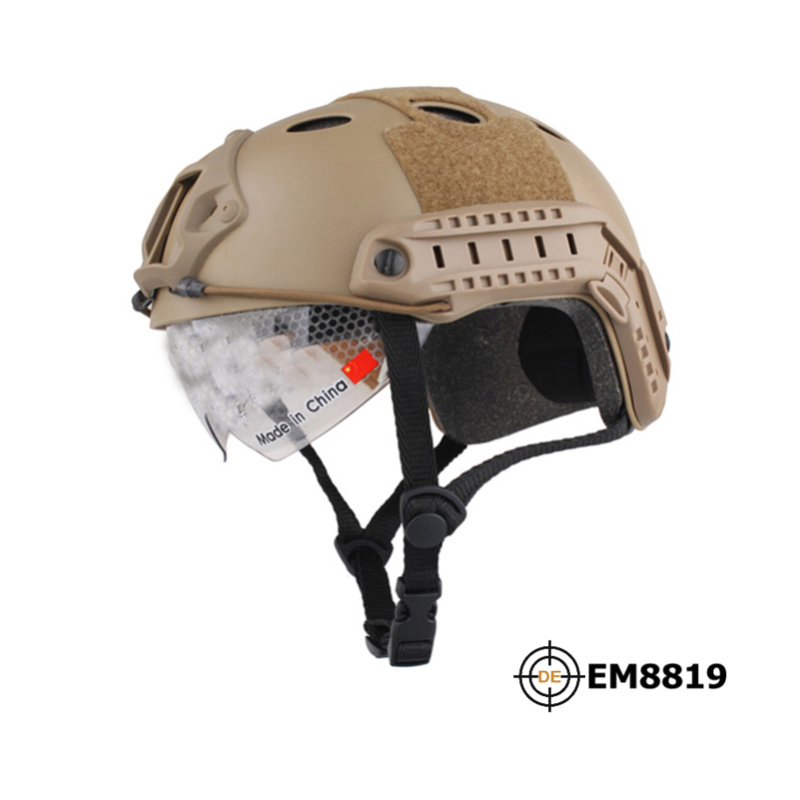 EM Snowboard Tactical Airsoft Helmet With Protective Goggle Pararescue Jump Type Military For Skirmish Airsoft Hunting fast helmet protective goggle helmet pararescue jump type helmet military tactical airsoft helmet