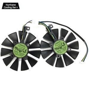 Image 2 - 2Pcs/Lot T129215BU T129215SU VGA GPU Cooler GTX 1070 GTX 1060 Graphics Card Fan for ASUS Dual GTX1060 GTX1070 Video card cooling