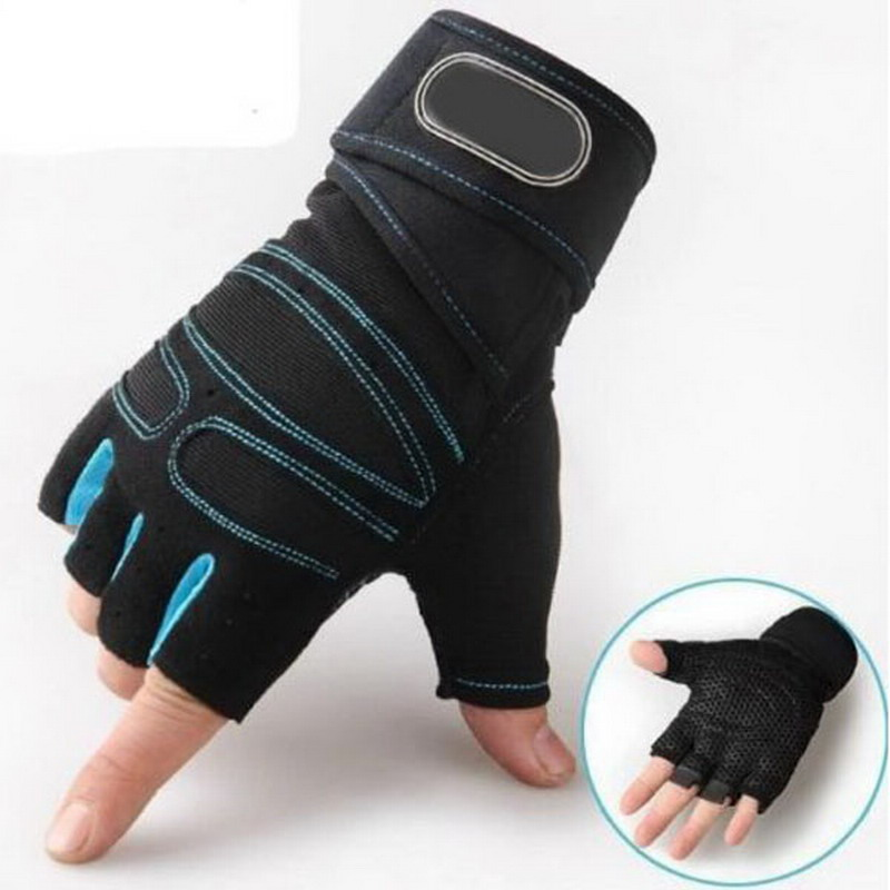 M-XL guantes de gimnasio de peso pesado deportes de ejercicio guantes de levantamiento de peso para la construcción del cuerpo entrenamiento Deporte Fitness guantes